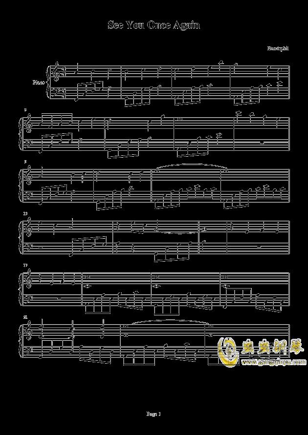 once again钢琴谱-bandrphil-虫虫钢琴谱图片