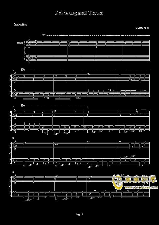 玩具岛原声钢琴谱-玩具岛-虫虫钢琴谱免费下载