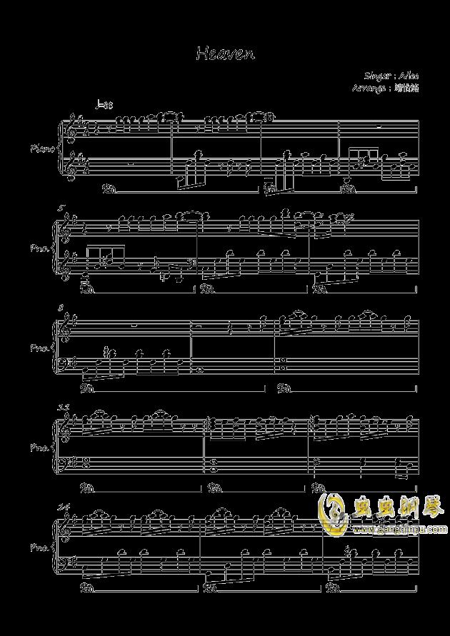 heaven钢琴谱-ailee-虫虫钢琴谱免费下载图片