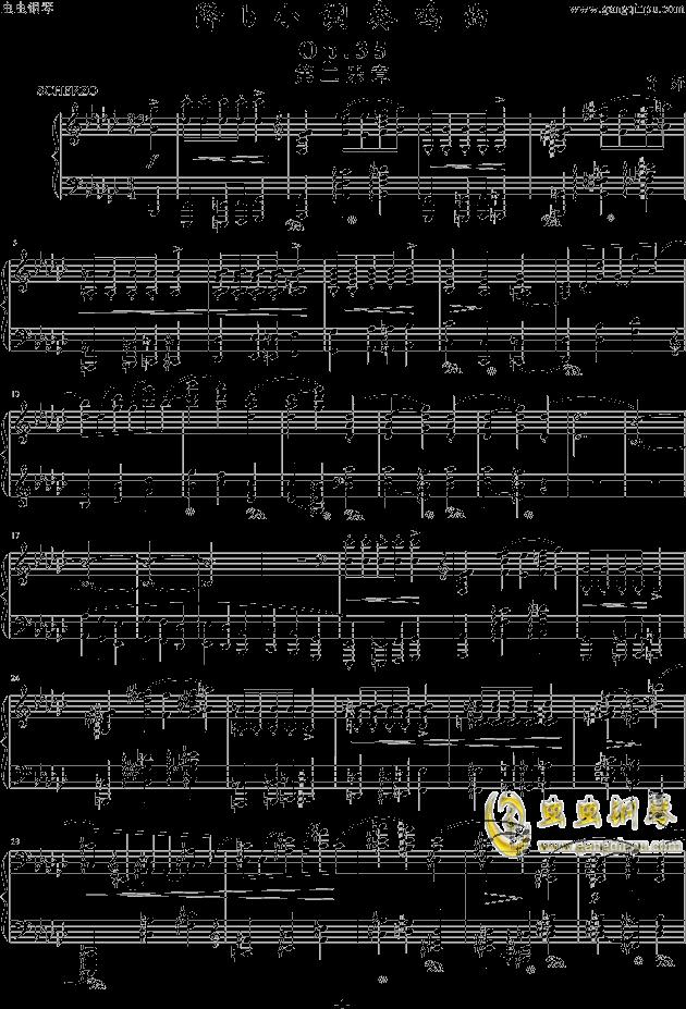 降b小调奏鸣曲——第二乐章钢琴谱-肖邦-chopin-虫虫
