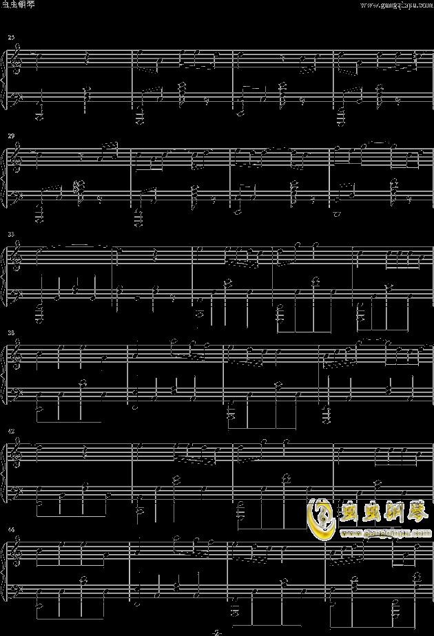 小星星钢琴谱 第2页