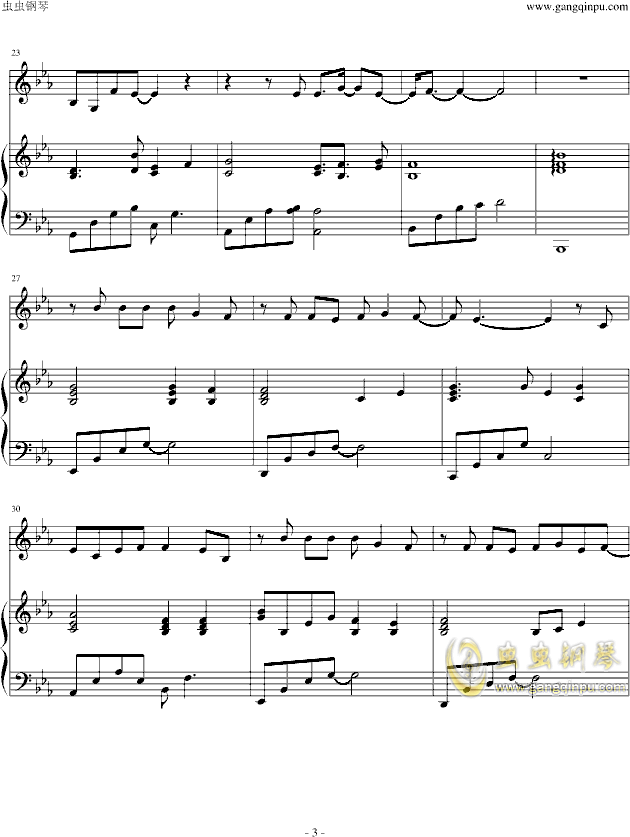 一念曲谱_一念一生钢琴曲谱