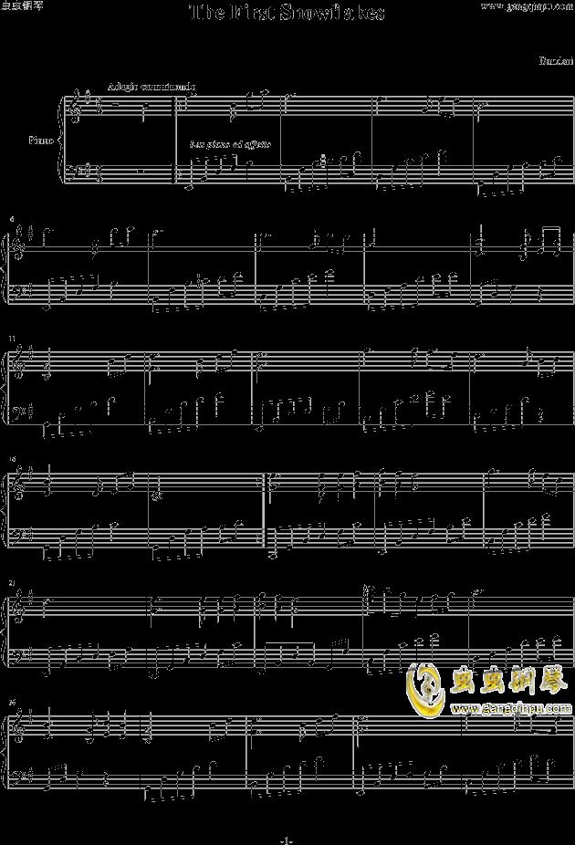 snowflakes-音乐盒1yh修改钢琴谱-班得瑞