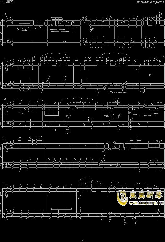 虫虫钢琴 钢琴谱 >> 名人名曲 >> 中国名曲 >>梁祝——快板图片