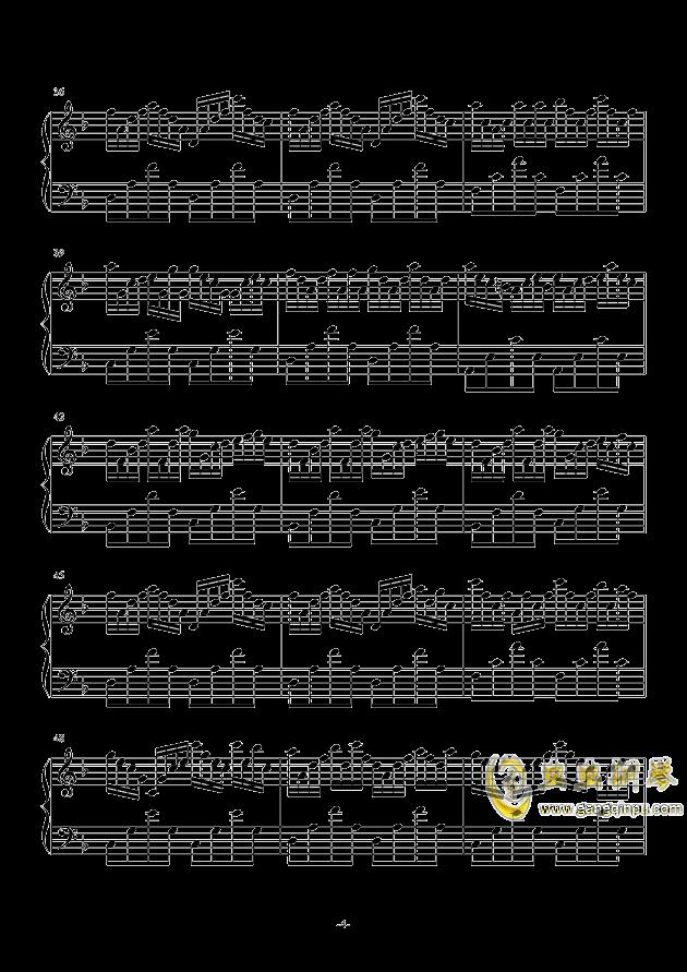 虫儿飞难度版钢琴谱-as2134-虫虫钢琴谱免费下载