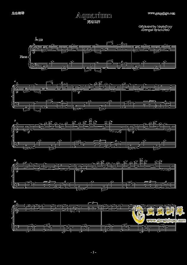 【冒险岛】海底世界bgm钢琴谱-冒险岛-虫虫钢琴谱