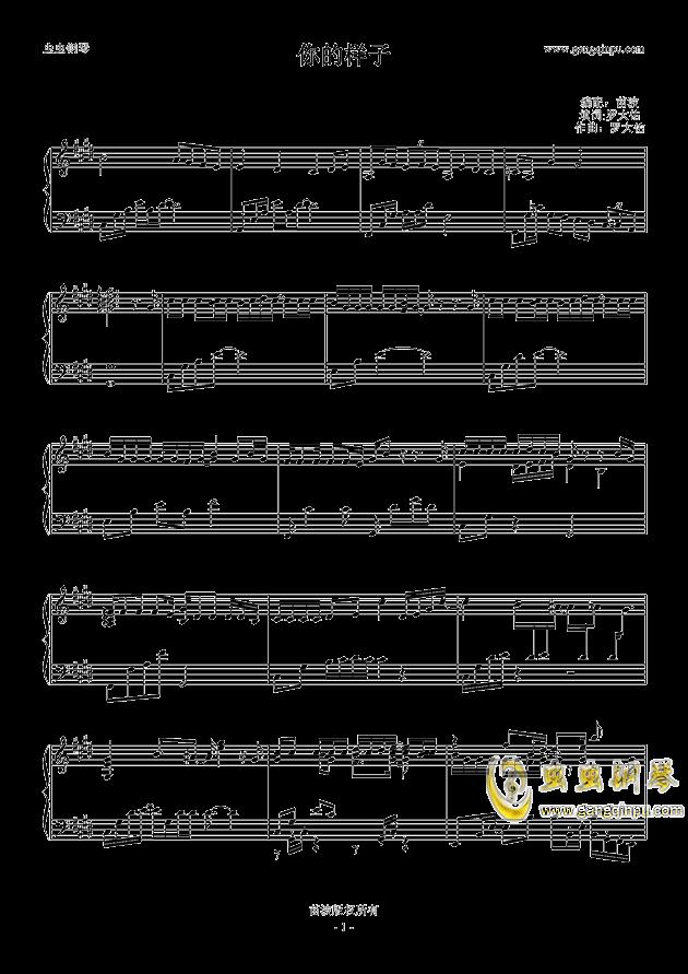 你的样子钢琴谱-齐秦-虫虫钢琴谱免费下载图片
