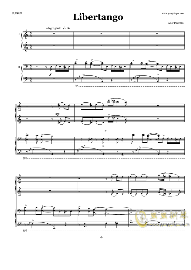 合唱曲谱libertango
