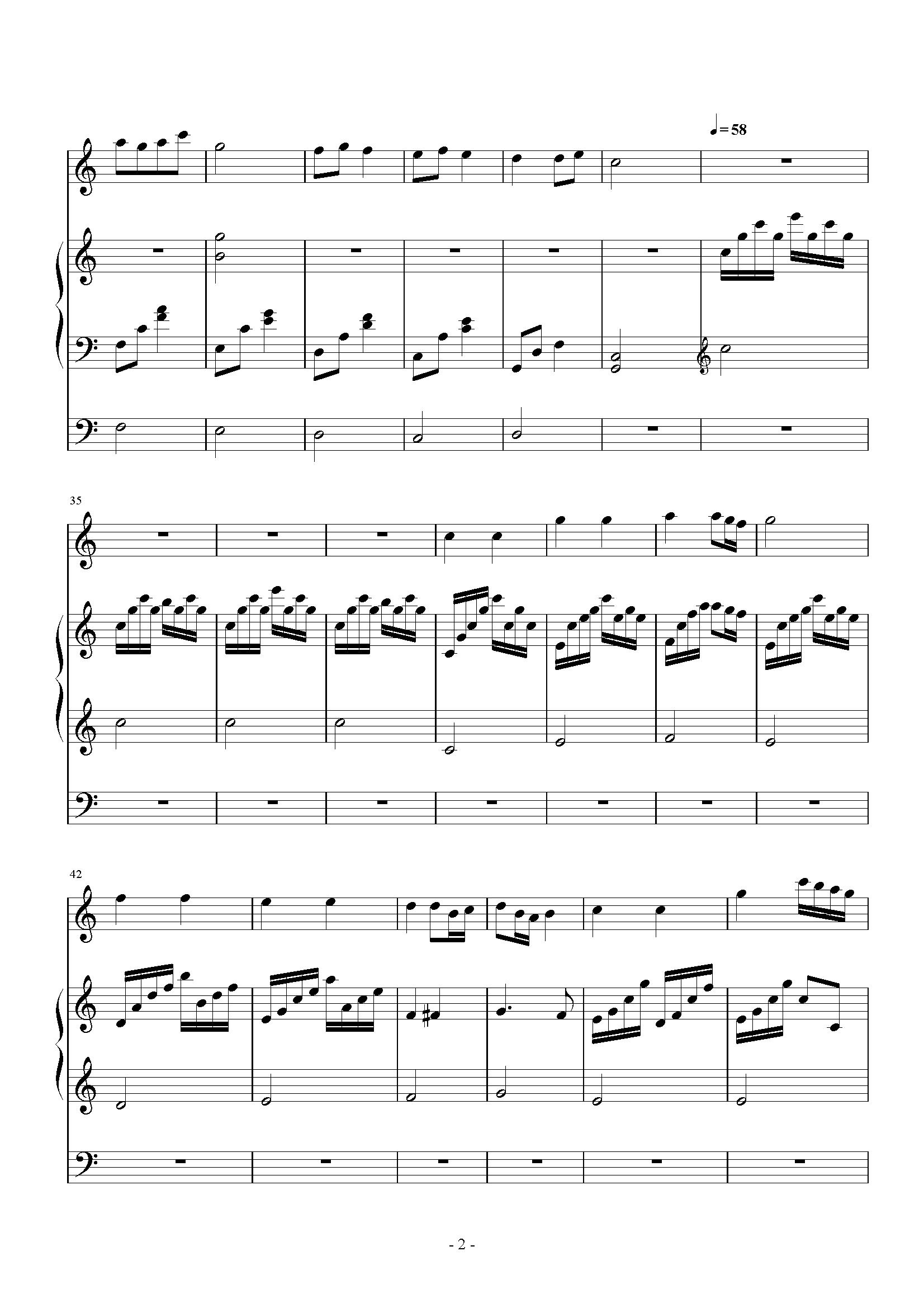 小星星(小提琴三声部版)钢琴谱-莫扎特-虫虫钢琴谱