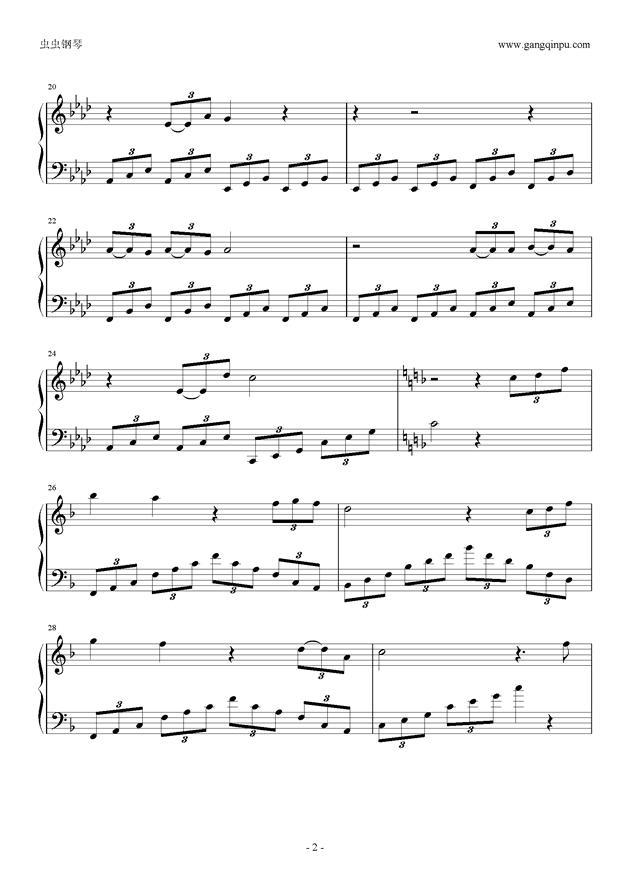 《春》high歌钢琴谱-华晨宇-虫虫钢琴谱免费下载
