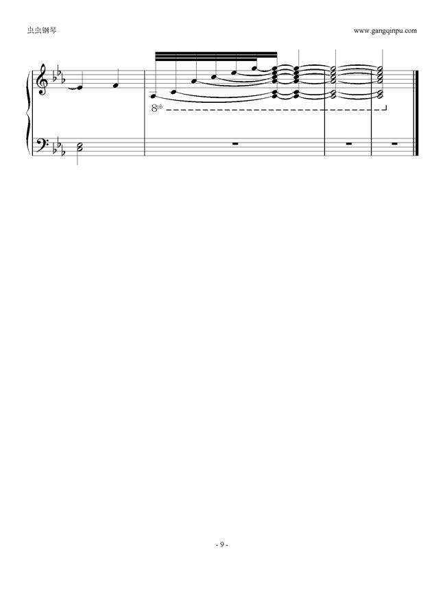 the letter钢琴谱 第9页图片