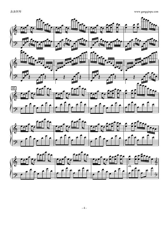 luv letter in c major钢琴谱 第4页图片