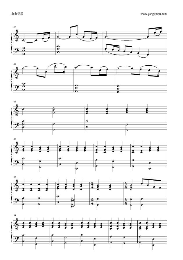 好钢琴曲谱_新年好钢琴曲谱