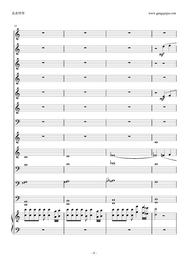 基督教管乐合曲谱