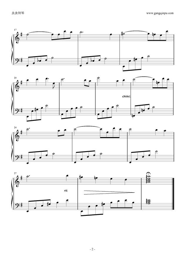 拙慕曲谱_钢琴简单曲谱
