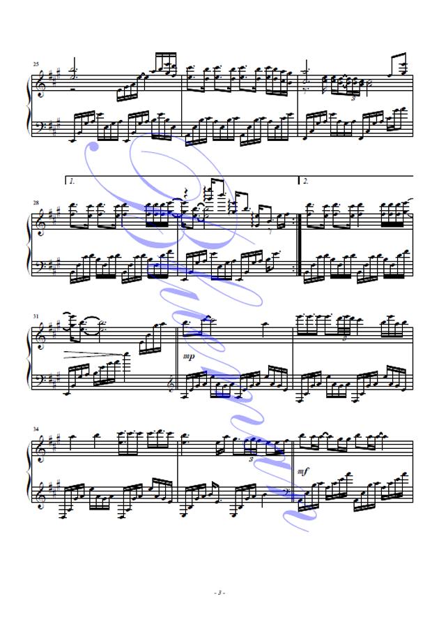 风吹麦浪钢琴谱-李健-虫虫钢琴谱免费下载