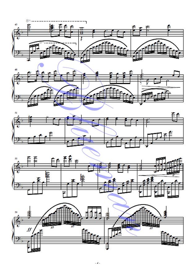 葬花吟钢琴谱 第4页