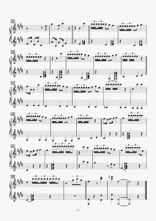 可爱いひなた钢琴谱-动漫-虫虫钢琴