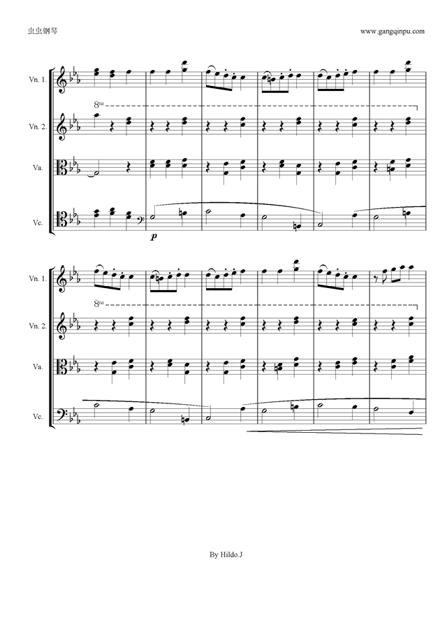 虫虫钢琴 钢琴谱 >> 名人名曲 >> 贝多芬-beethoven >>命运交响曲第三