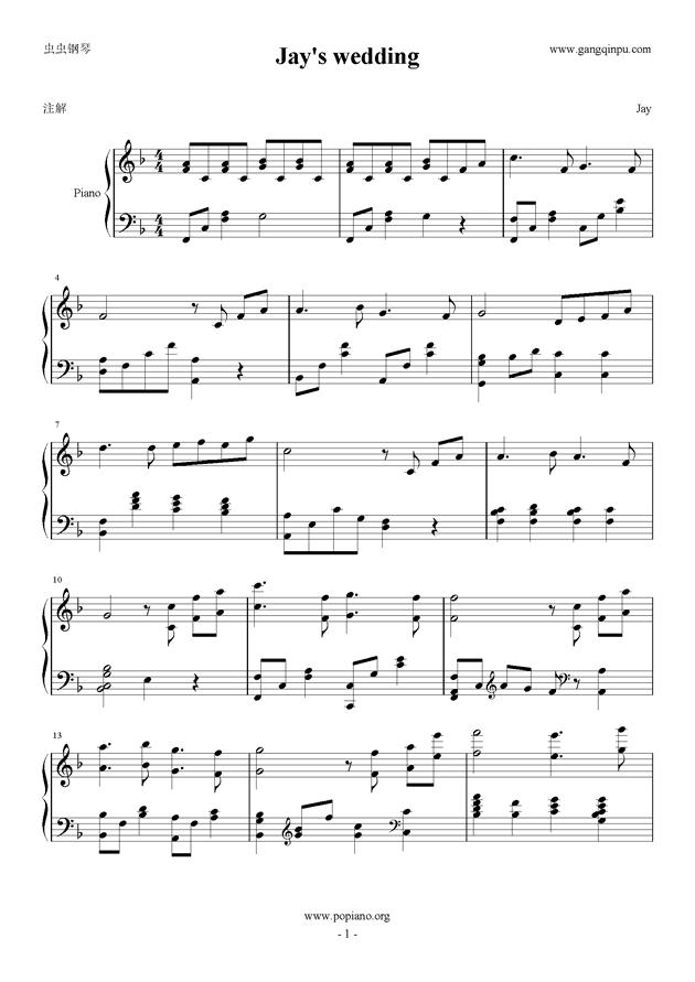钢琴曲谱 稻香-周杰伦 钢琴谱 简谱
