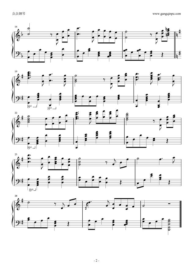 周杰伦婚礼钢琴谱-周杰伦-虫虫钢琴谱免费下载