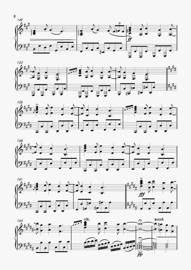 狂浪生简谱钢琴_狂浪生简谱
