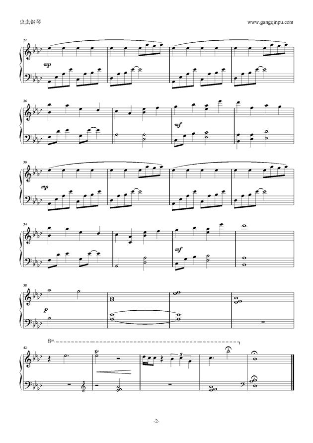 曲谱是的_钢琴简单曲谱