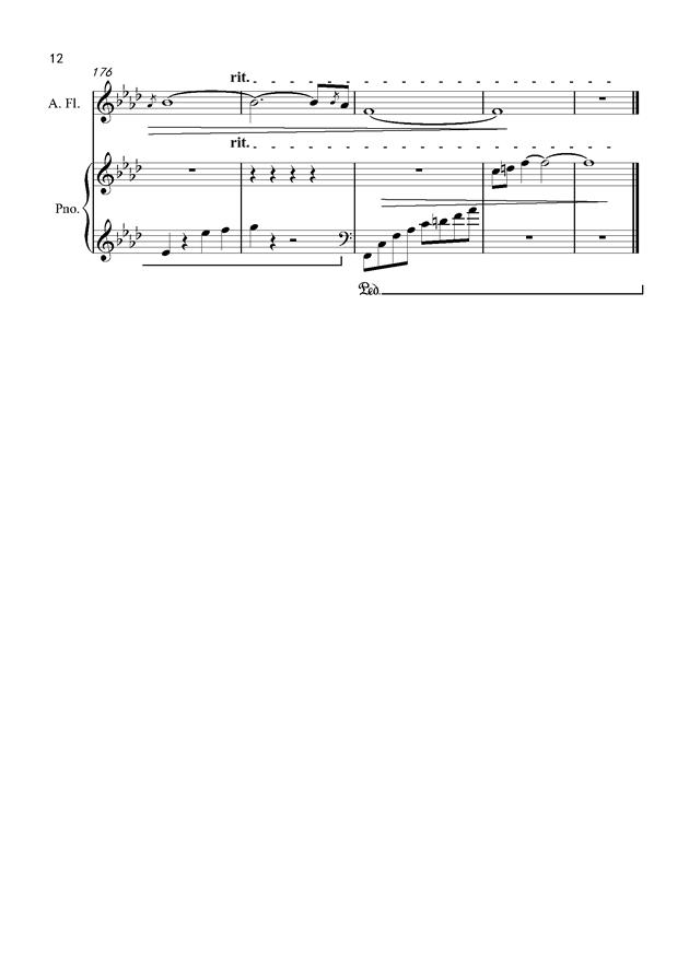 默钢琴谱 第12页