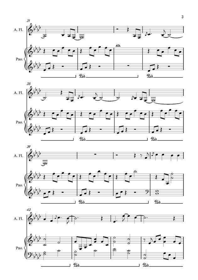 默钢琴谱 第3页