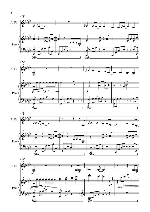 默钢琴谱 第8页