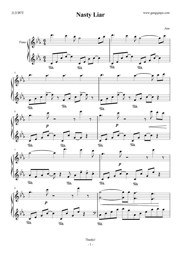冒险岛-神子剧情·卡西亚斯钢琴谱-冒险岛-虫虫钢琴谱