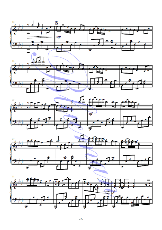 新鸳鸯蝴蝶梦钢琴谱 第2页