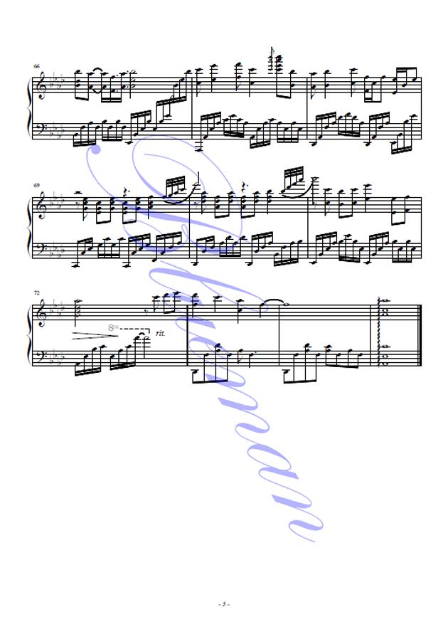 新鸳鸯蝴蝶梦钢琴谱 第5页