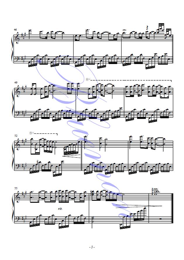 弯弯的月亮,弯弯的月亮钢琴谱,弯弯的月亮钢琴谱网,的