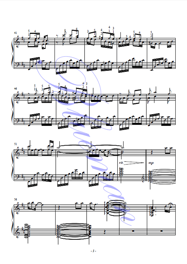 橄榄树钢琴谱 第3页