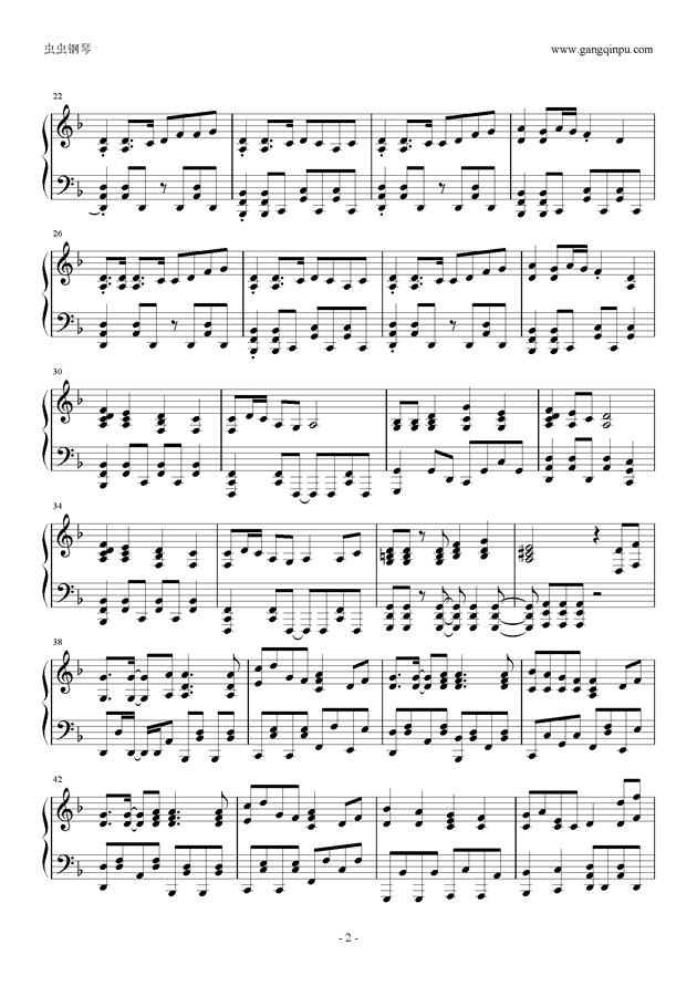 千本樱左右手钢琴简谱