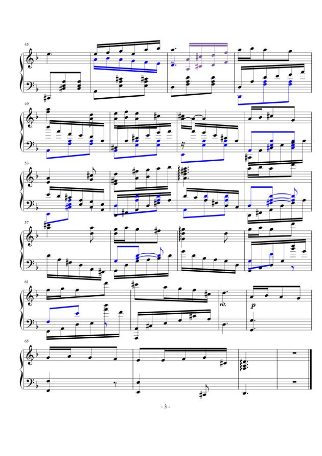 1钢琴谱 第3页