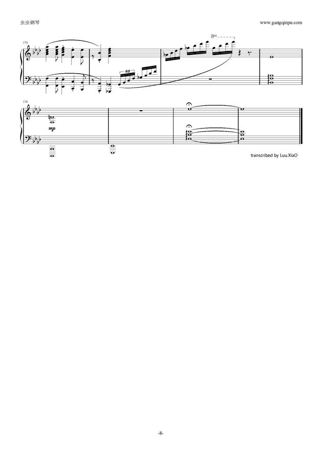 【可塑性记忆】op ring of fortune钢琴谱-可塑性记忆