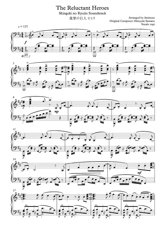 animenz钢琴谱合集-a叔钢琴谱/a叔unravel/了解钢琴