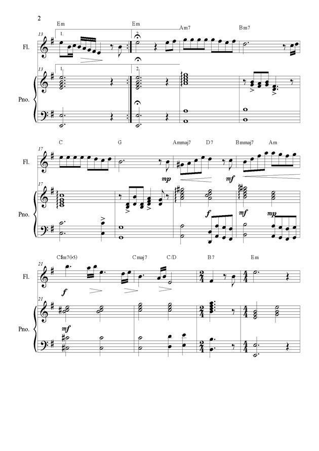 海の见える街(长笛与钢琴伴奏)