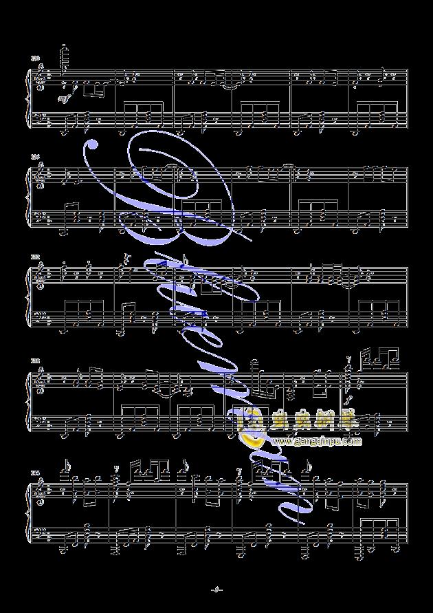 献礼弥撒曲谱_钢琴简单曲谱