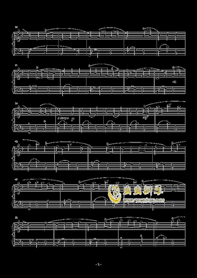 always with me千与千寻片尾曲(简易版)钢琴谱-千与