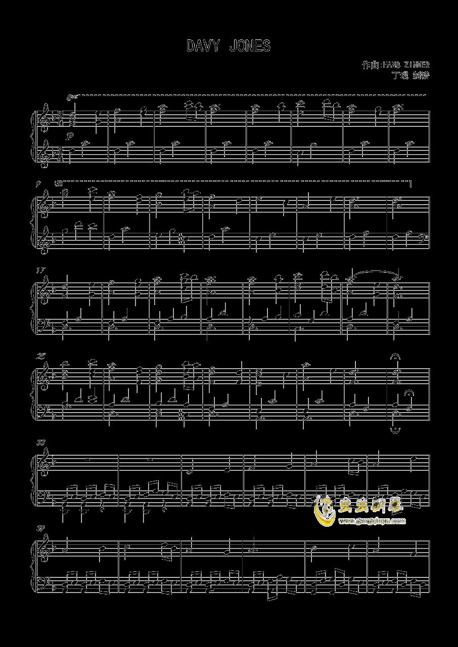 davy jones钢琴谱 第1页