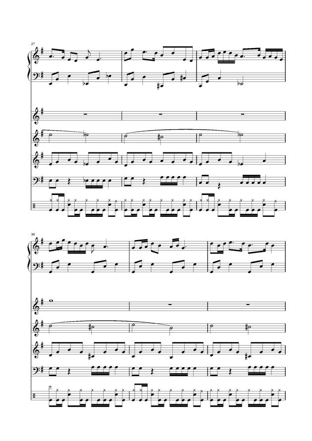 浏阳河乐队总谱,浏阳河钢琴谱,浏阳河钢琴谱网,浏阳河