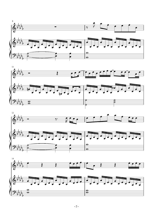 if you钢琴谱 第2页