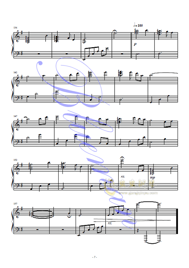 假如爱有天意 钢琴简谱