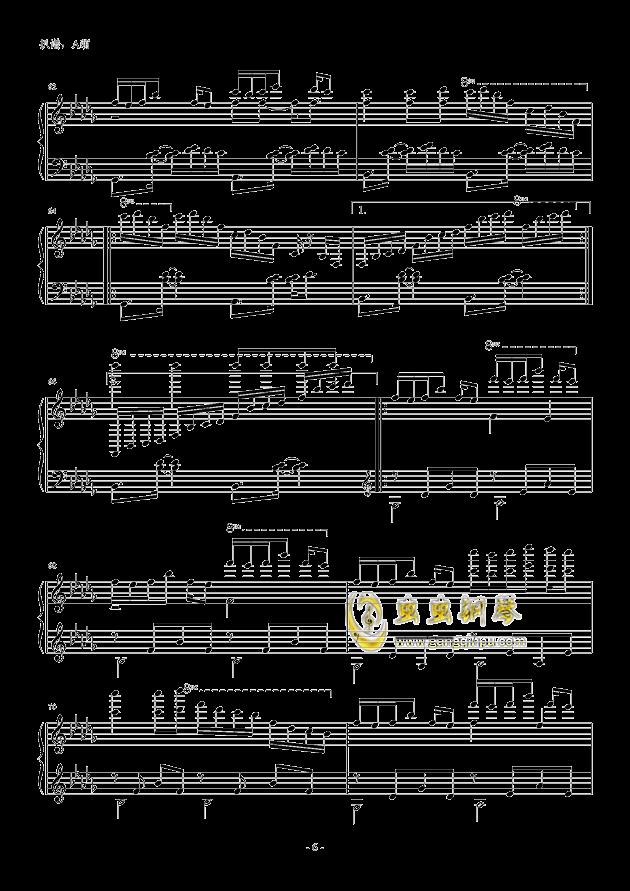 luv letter双音轨版钢琴谱-dj okawari-虫虫钢琴谱