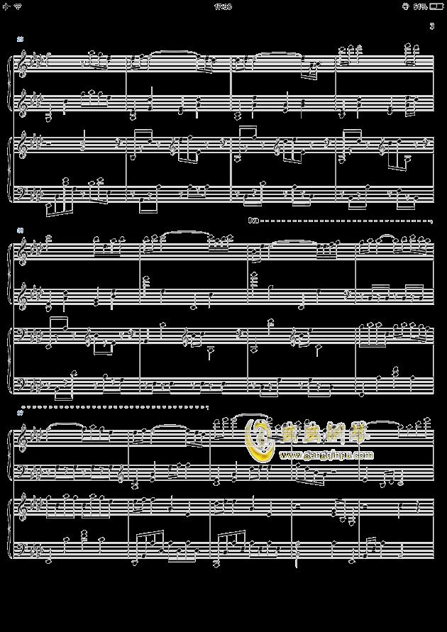 kiss the rain四手联弹钢琴谱-yiruma-虫虫钢琴谱免费图片