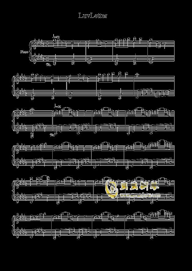 luvletter钢琴简谱