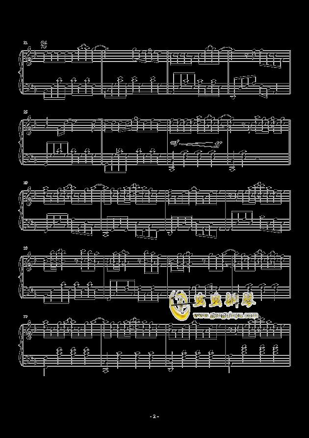 多幸运钢琴曲谱双手分享展示